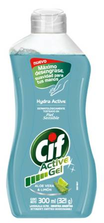 CIF ACT GEL ALOE/LIMON 12X300M